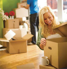 image of a tenant moving in
