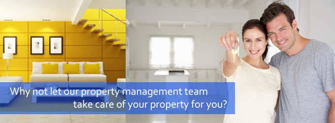 IWhy not let our property management team take care of your property for you?